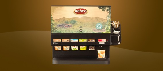 Mini Cup Flex Vending Machine Kenco livery